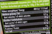 Tex-Mex haricots rouges & maïs - Informations nutritionnelles