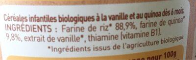 Céréales Vanille - Ingrédients - fr