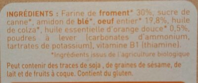 Petits boudoirs - Ingredients