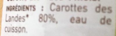 Carotte des Landes - Ingrédients - fr