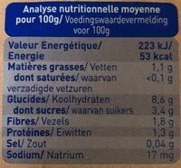 Mouliné de carotte Quinoa - Voedingswaarden - fr