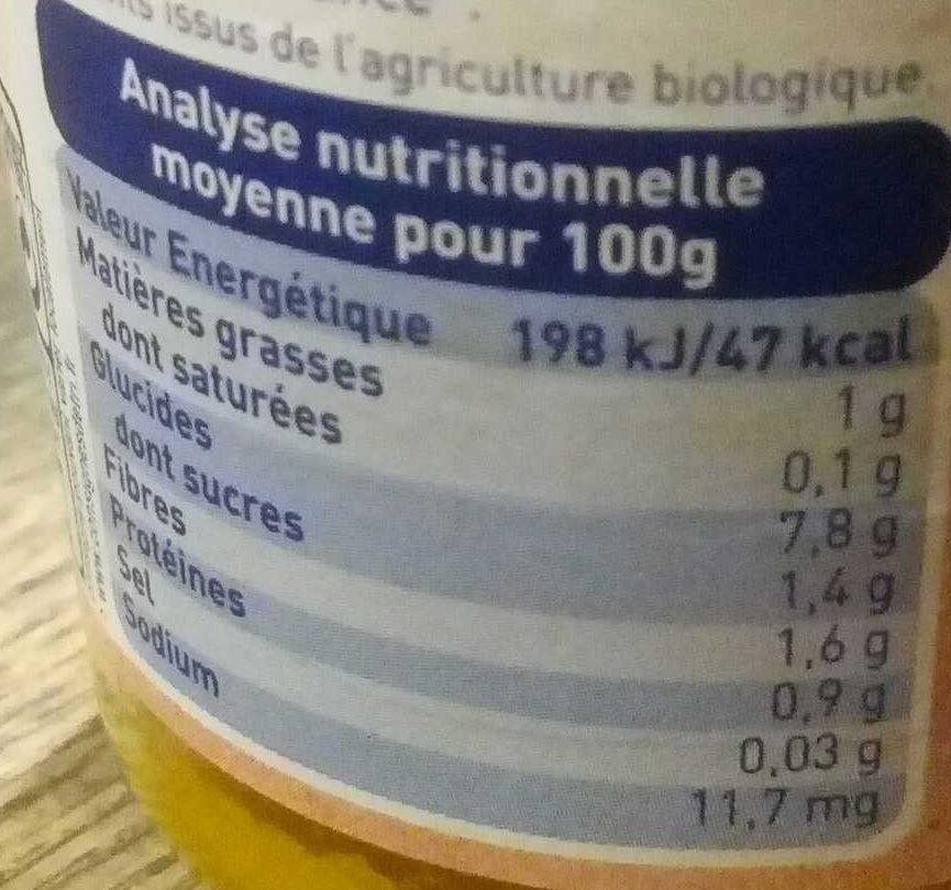 Carottes des Landes, Potimarron & Riz - Informations nutritionnelles - fr