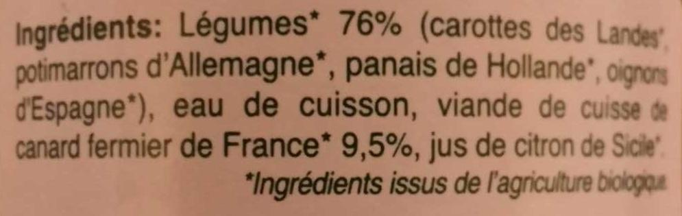 Légumes Canard fermier de France - Ingredients