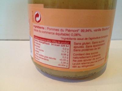 Compote Pomme Verveine - Ingrédients - fr