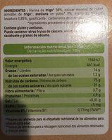 Galletas de avellana - Información nutricional - fr