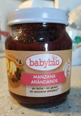 Babybio tarrito Manzana y Arándanos - Producto - es