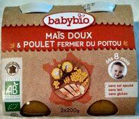 Petits pots au poulet et légumes, dès 8 mois, certifié AB - Product - fr