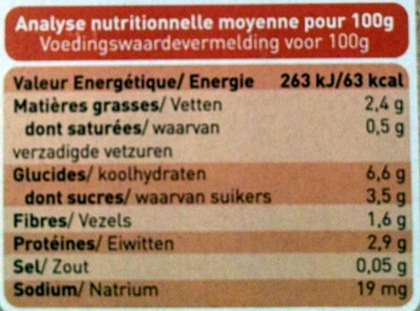 Petits pots au poulet et légumes, dès 8 mois, certifié AB - Voedingswaarden - fr