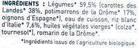 Carotte des landes, Potimarron & Riz - Ingrédients - fr