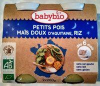 Petits pois, maïs et riz, dès 6 mois, certifié AB - Product - fr