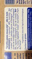 Blé et légumes variés, dès 6 mois, certifié AB - Ingrediënten - fr