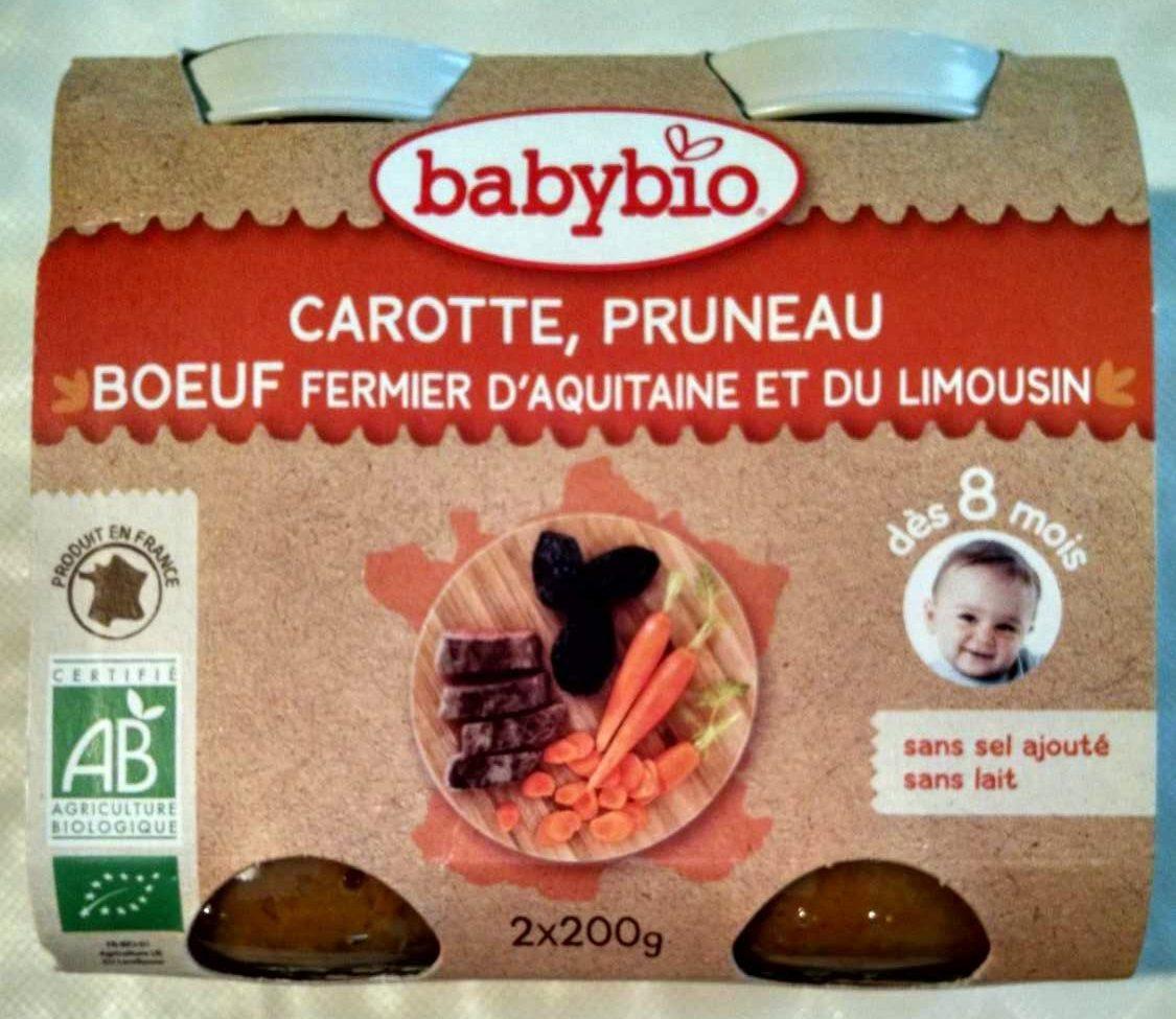 Petit Pot Carotte, Pruneau, Boeuf Fermier Aquitaine & Limousin - Product - fr