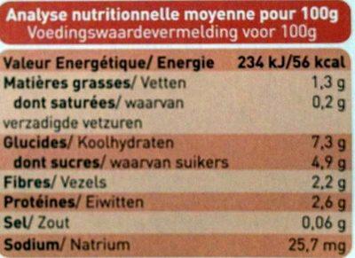 Petit Pot Carotte, Pruneau, Boeuf Fermier Aquitaine & Limousin - Voedingswaarden - fr