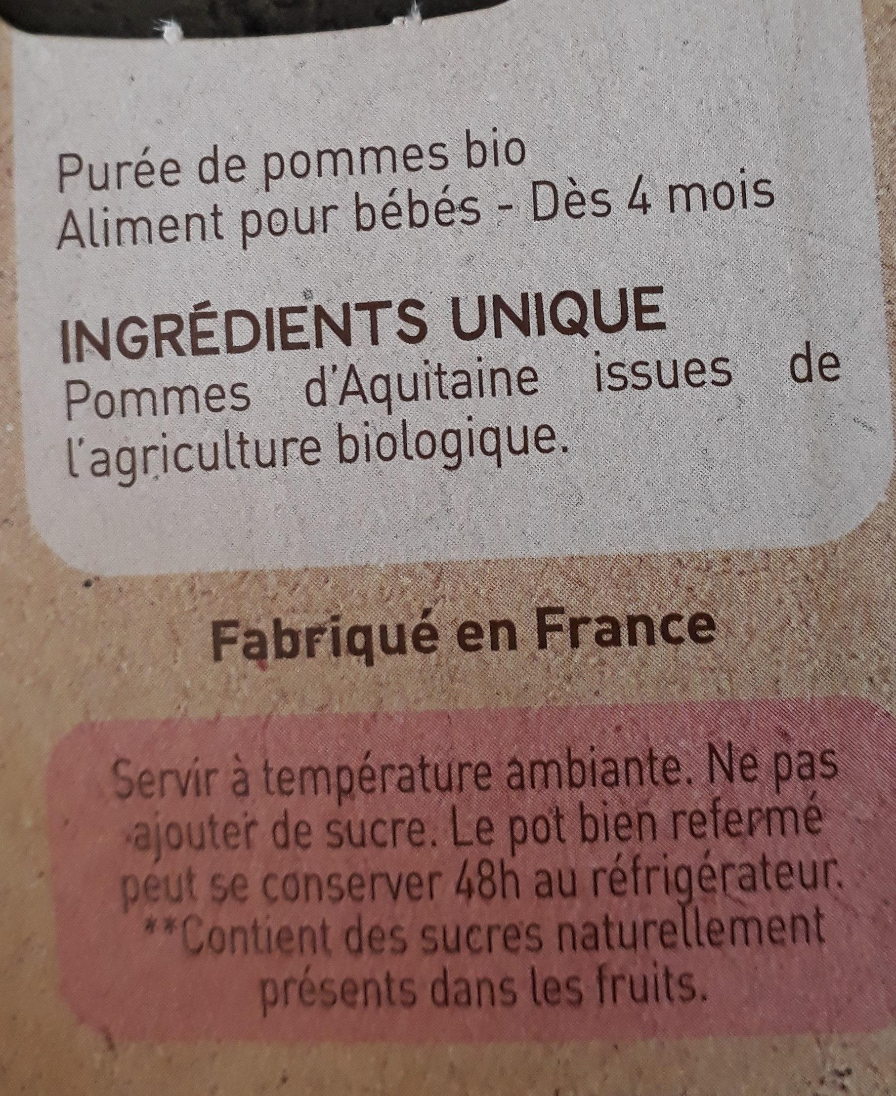 Pomme d Aquitaine - Ingrediënten - fr