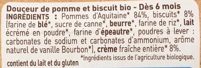 Douceur de pomme d'aquitaine biscuitée - Ingrediënten - fr
