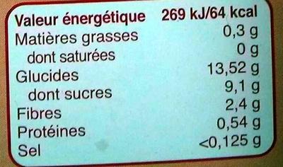 Pomme Myrtille Banane - Nutrition facts