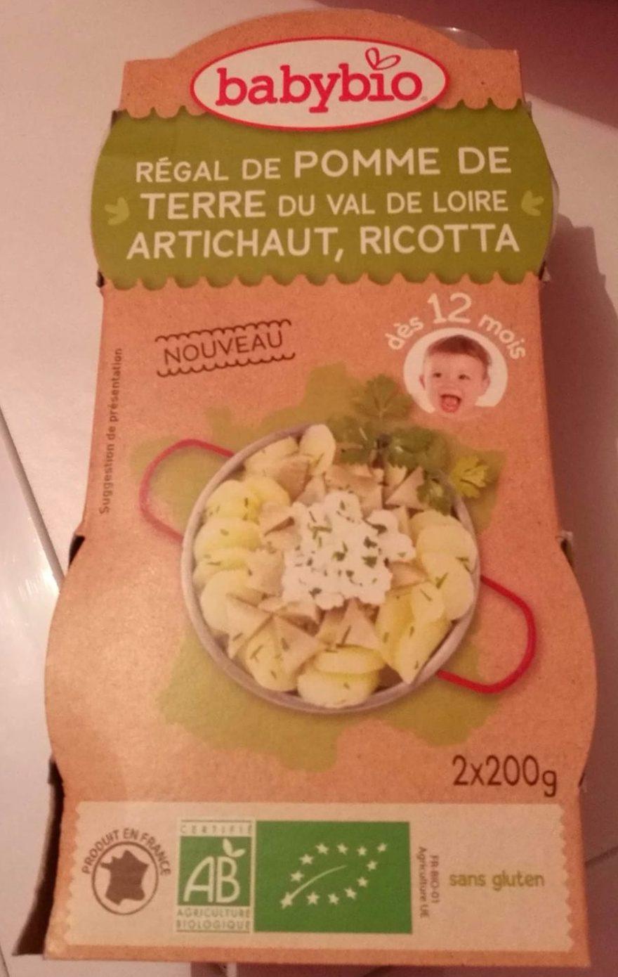 Régal de Pomme de Terre du Val de Loire, Artichaut, Ricotta - Product