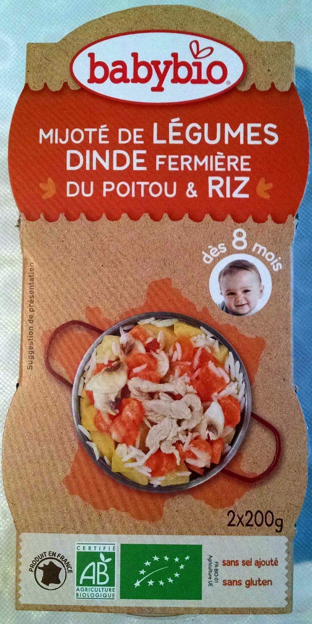 Mijoté de légumes, dinde et riz 8 mois - Product - fr