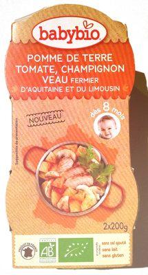 Pomme de terre, tomate, champignon, veau fermier d'Aquitaine et du limousin - Product