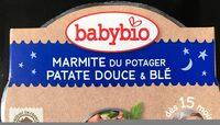 ASSIETTE BONNE NUIT PATATE DOUCE BLE 260G - Produit - fr