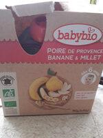 Gourde Poire, Banane, Millet - Produit