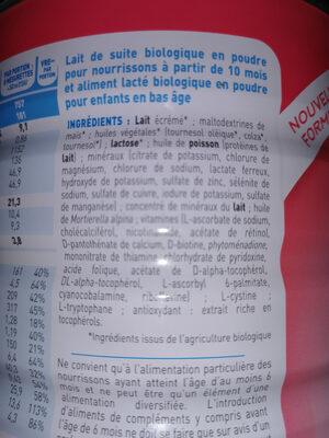 Babybio Primea Croissance 3 - Ingrédients - fr