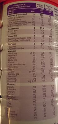 Babybio optima lait 2eme age - Nutrition facts - fr