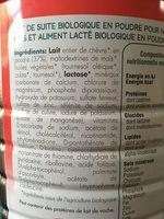 Caprea Croissance 3 BIO - Ingredients - fr