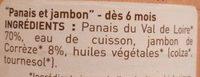 Petit pot panais jambon - Ingredients