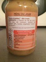 Petit pot panais jambon - Nutrition facts