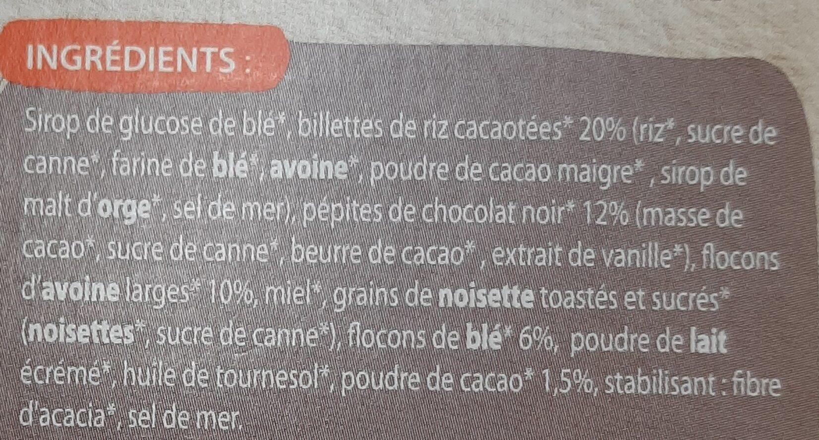 Cool Barre - Ingredients - fr