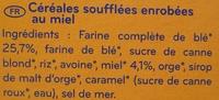 Star O'Miel - Céréales soufflées enrobées au miel - Ingrédients - fr