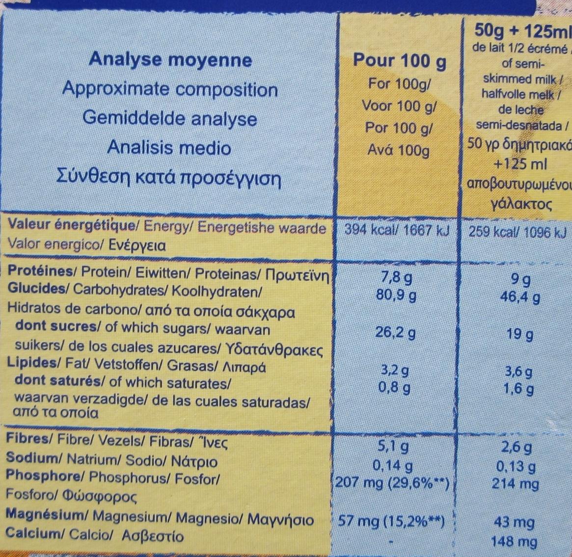 Star O'Miel - Céréales soufflées enrobées au miel - Informations nutritionnelles - fr
