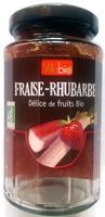 Fraise Rhubarbe, délice de fruits Bio - Product