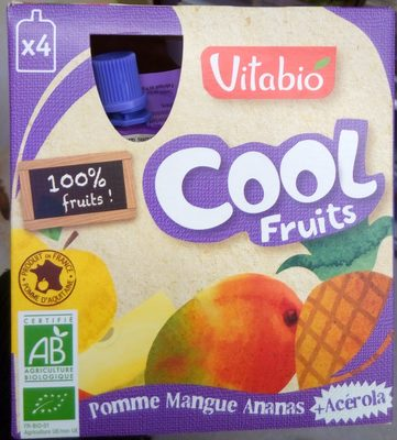 Cool Fruits Pomme Mangue Ananas + Acérola - Producto