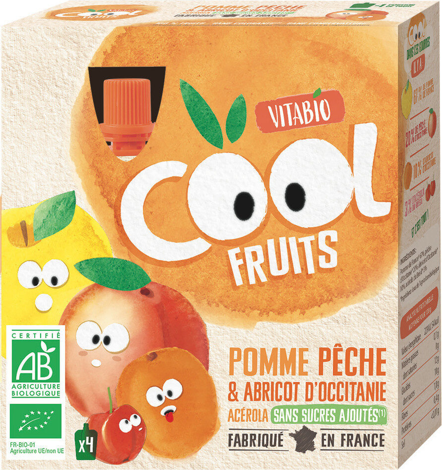 Cool Fruits Pomme Pêche Abricot - Product - fr