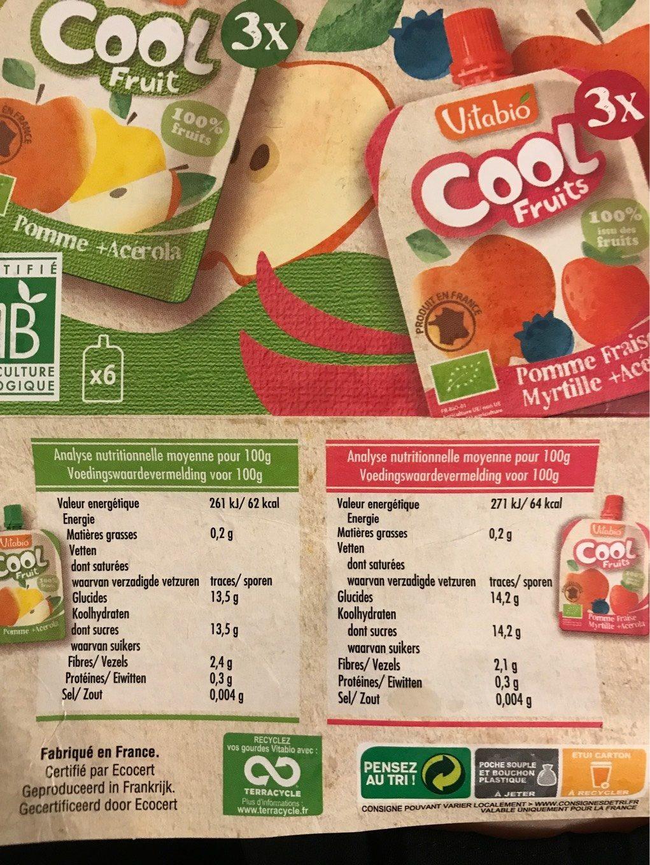 Cool fruits - Voedigswaarden