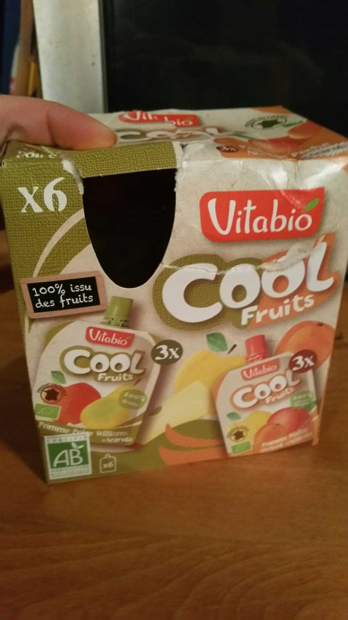 Cool Fruits Pomme Pêche Abricot + Acérola et Pomme Poire + Acérola - Product