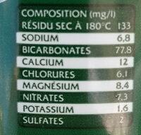 Volcanik - Voedingswaarden - fr