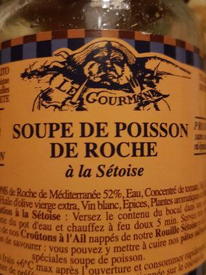 Soupe de Poisson de Roche à la sétoise - Produit - fr