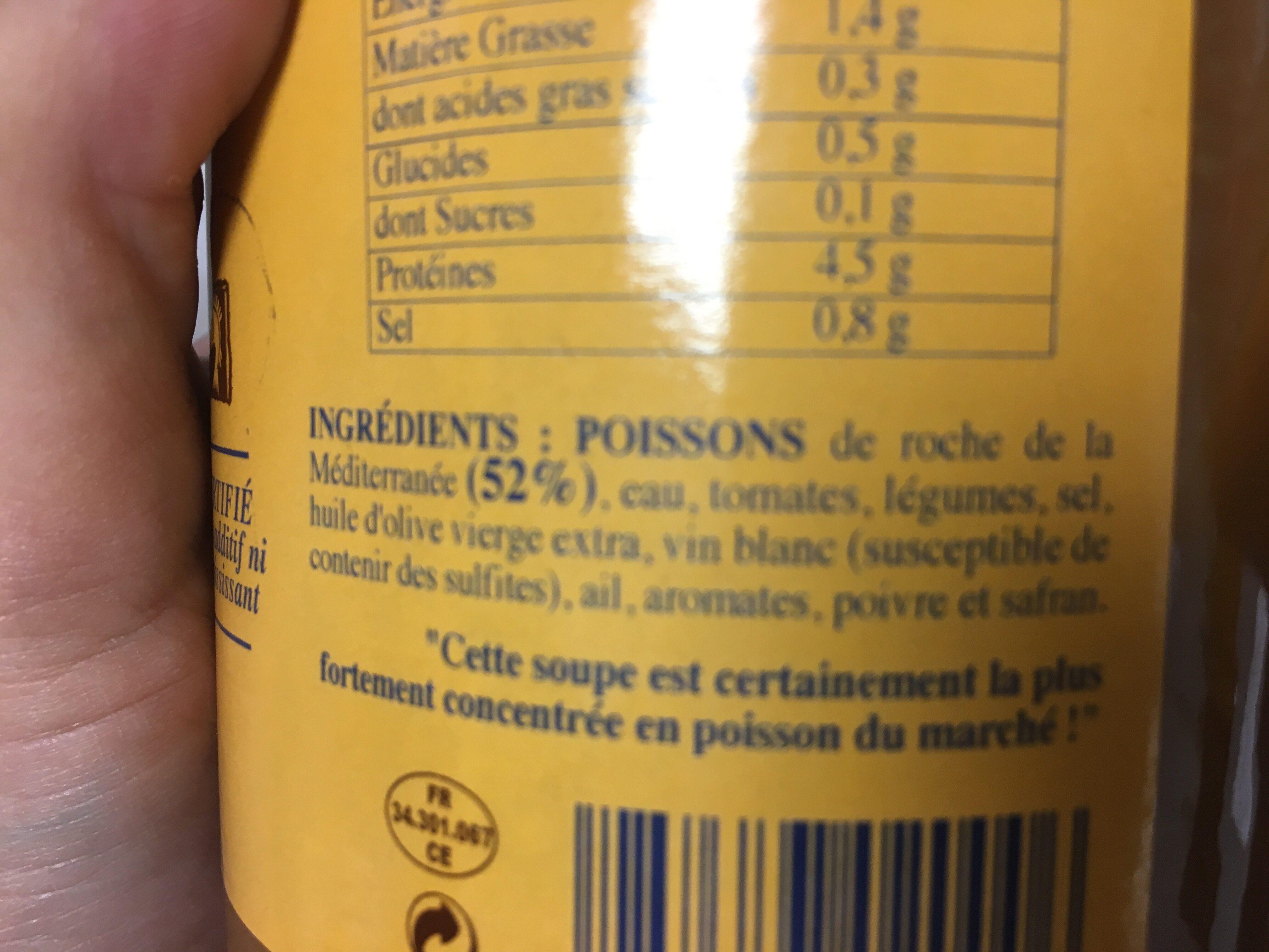 Soupe de Poisson de Roche à la sétoise - Ingrédients - fr