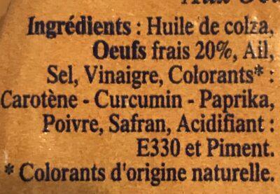 Rouille setoise - Ingrediënten - fr