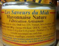 Mayonnaise nature - Ingrédients - fr
