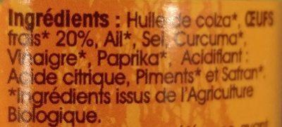 Rouille Bio - Ingrédients