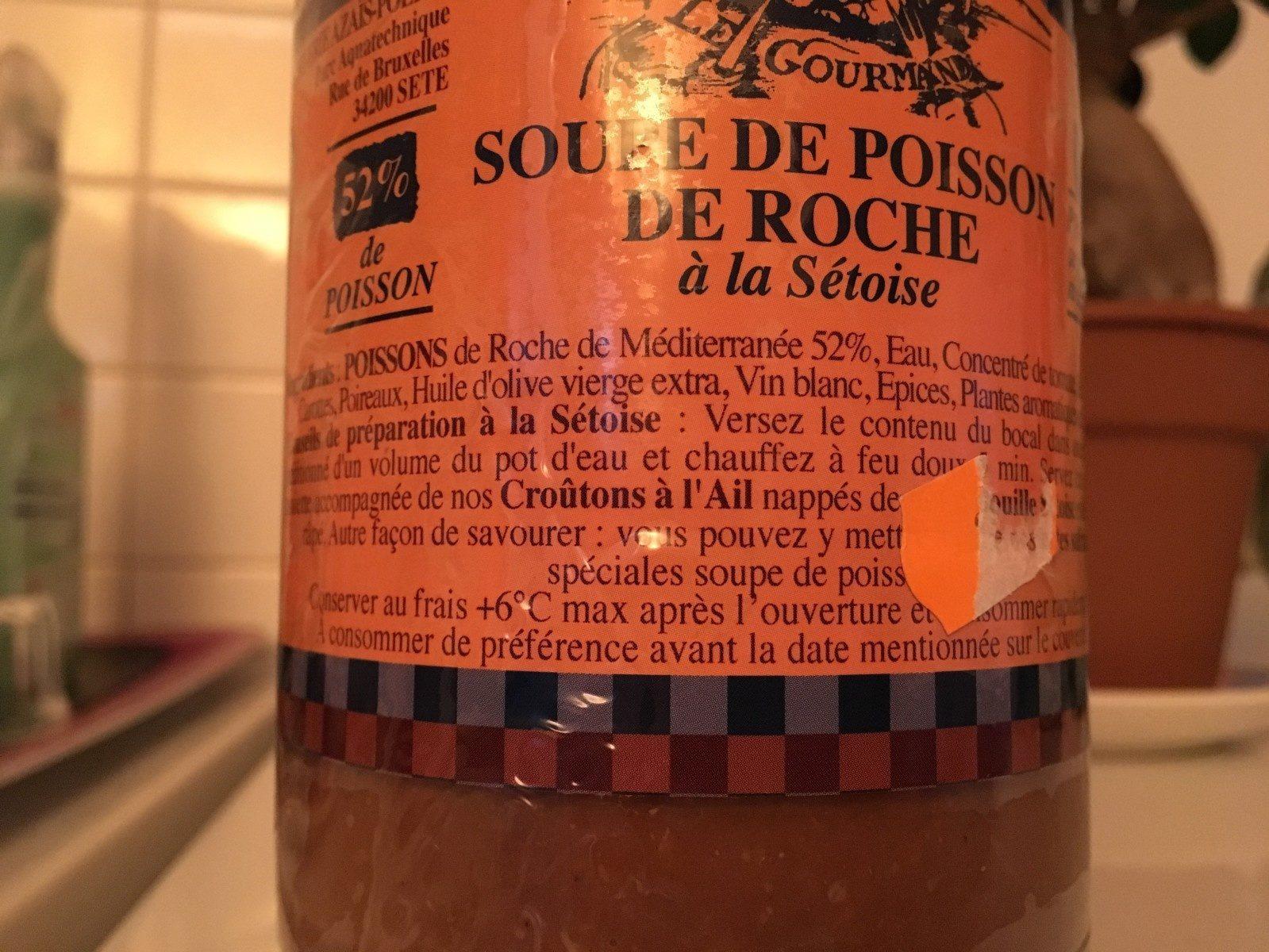 Soupe de poisson de roche à la sétoise - Ingrediënten