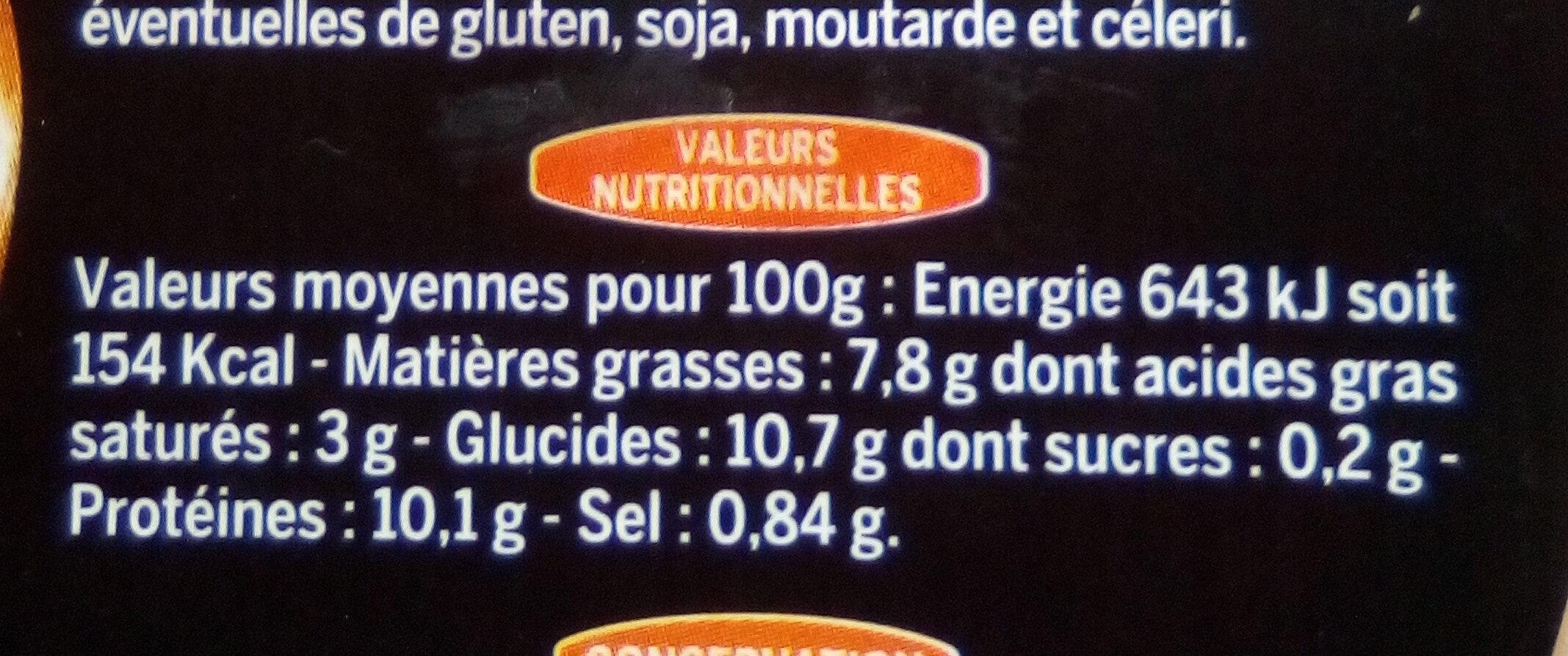 Cassoulet de Castelnaudary au Confit de Canard - Informations nutritionnelles