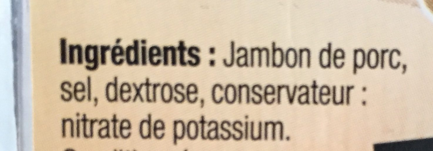 Jambon Sec, Fabriqué Dans Le Tarn, Les 10 Tranches épaisses - 500g - Ingredienti - fr