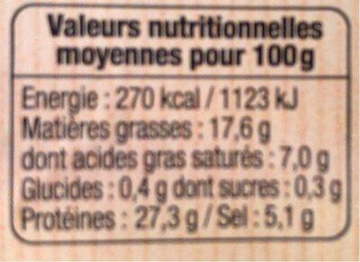 Jambon sec spécial melon - Informations nutritionnelles - fr