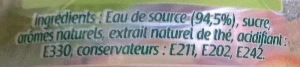 Chanflor Thé Vert Saveur Pêche - Ingredients