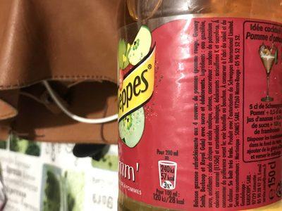 Schweppes Pomme - Ingrédients - fr
